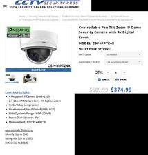Controllable pan tilt zoom Ip Dome Security Camera With 4X Digital zoom