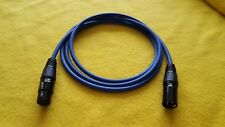 Mogami 2534 XLR-M to XLR-F 3 Pin Gold Contacts Balanced Audio Cable Blue 6 ft