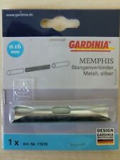 Gardinia Memphis Stangenverbinder Metall Kunststoff WEISS 16mm Durchmesser