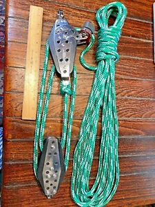 "HARKEN 3"" CLASSIC SERIES 4:1 MAIN SHEET, VANG, BLOCK/TACKLE W/40' NEW NEW LINE"