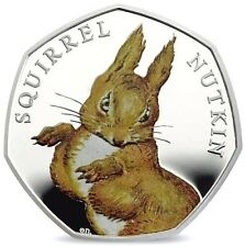 UNITED KINGDOM UK 2016 50p Beatrix Potter Squirrel Nutkin Silver Proof Coin
