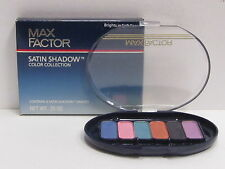 Max Factor 6 Satin Shadow Shades Color Collection Brights In Soft Focus