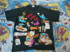 Vintage 90's THE FLINTSTONES Cartoon All Over Print Rare T Shirt Adult size XL