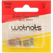 Wot-Nots Brake Pipe Unions - Male M10 x 1 Pitch (PWN416) - Pack of 2