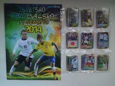 WORLD CUP 2014 BRASIL SchoolShop empty album with FULL set  stickers