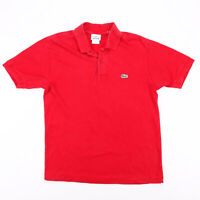LACOSTE  Red Classic Short Sleeve Polo Shirt Mens S