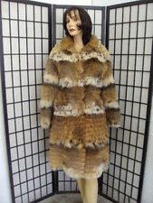 !MINT MONTANA LYNX FUR COAT JACKET WOMEN WOMAN SIZE 4-6 PETITE