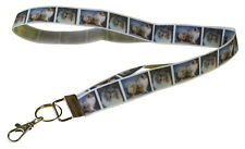 More details for blue merle rough collie breed of dog lanyard key card holder perfect gift