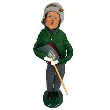 Vintage Christmas Byers Choice 1998 Caroler Man w Shovel 14 of 100 Ltd Ed Mint