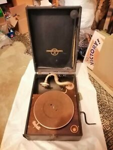 Vintage Antique Columbia Grafonola Player Working Condition Lovely Collectible