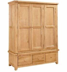 Devon Oak Full Triple Wardrobe