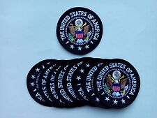 """10 The United States of America / Eagle Embroidered Patches 3"""" Diameter"""
