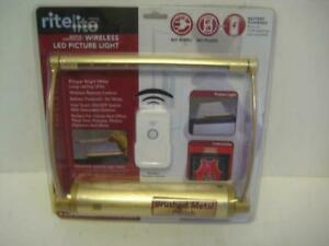 Rite Lite Battery Powered Brushed Metal Bright White-LED Picture Light w/ Remote