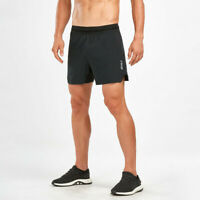 2XU Mens X Vent 5 Inch Shorts Pants Trousers Bottoms Black Sports Running