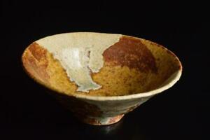 P3864: Korean White glaze Shapely TEA BOWL Green tea tool Tea Ceremony