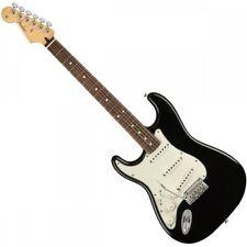 Reproductor de Fender Stratocaster zurdo-Negro-diapasón pau ferro