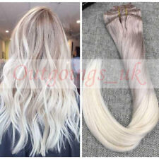 Ash Blonde to Platinum Blonde Clip in Human Hair Extensions Full Head #18/60