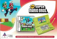Nintendo DS Lite Console + New Super Mario Bros. [Refurbished, NTSC, NTR-005]