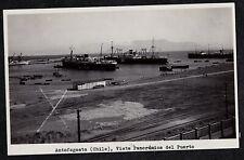 Vintage RPPC Postcard Antofagasta (Chile), Vista Panoramica del Puerto - Unused