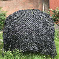 4X4M Black Military Camouflage Net Hide Camo Net Outdoor Hunting Camping Cover