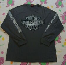 Harley Davidson Motorcycles Central Texas Round Rock Gray Long Sleeve T Shirt L