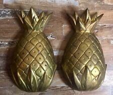 """Antique Heavy Brass Pineapple Door Knockers 8.5""""x 5""""  for Restoration Vintage"""