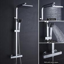 Duschsystem mit Thermostat Duscharmatur Regendusche Duschset Handbrause Dusche