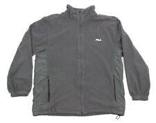 Vintage Fila Gray Fleece Full Zip Jacket Size L
