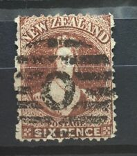 New Zealand 1864 #29B Chalon Wmk 6d Queen Victoria VFU Perf shorts