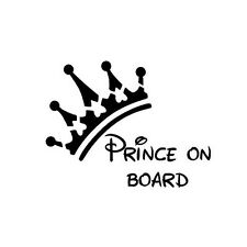 Baby Prince on Board Vinyl Car Graphics Window Vehicle Sticker Decal Decor Auto