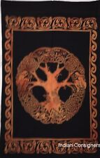 Tapestry Celtic Tree Design Cotton Small Indian Bohomian Decorative Art Poster