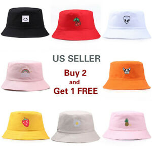 8 Styles Bucket Hat Cap Canvas Women Men Fishing Boonie Brim visor Sun Safari