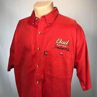 NASCAR Bud Racing Dale Earnhardt Jr XL Shirt Mens Size XL Red Winners Circle