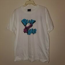 1996 White Vintage Big Ball Sports Shirt, Size L, Made in the USA