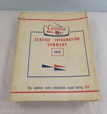 1970 Cessna Service Information Summary Catalog