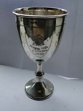STERLING SILVER BAR MITVAH CUP, 1931 LONDON, ENGRAVED & PRESENTED, HALLMARKED