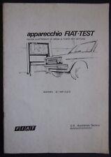 APPARECCHIO FIAT - TEST manuale norme d'impiego tester elettronico messa a punto