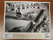 Vintage Glossy Press Photo Natick Mall MA Escalators by Paul Kapteyn 10/17/91