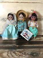 3 Madam Alexander Storybook Dolls NIB Excellent Vintage China India Thailand