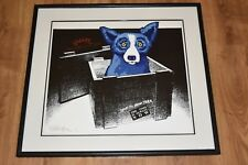 George Rodrigue Blue Dog Ship To New York Silkscreen Print  Signed Numbered Art