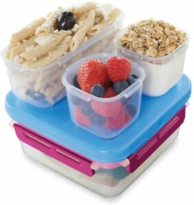 Rubbermaid LunchBlox Small Entree Kit Leak-Proof Lunch Container Beet Red