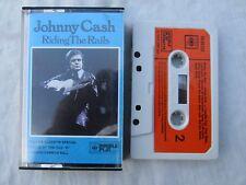 CASSETTE JOHNNY CASH RIDING THE RAILS cbs paper labels