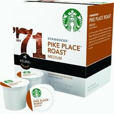 1 Case Keurig Single Serving K-Cup Starbucks Pike Place Coffee 16 Cups/Case