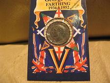ANTENATI 1942 Giorgio VI Wren Farthing riproduzione moneta.