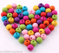 200 pcs Loose mixed color Matt acrylic spacer findings beads charms 6mm