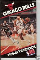 MEDIA GUIDE 1980/81 NBA CHICAGO BULLS M64