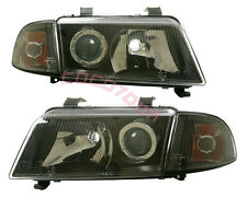 AUDI A4 96-98 B5 BLACK PROJECTOR HEADLIGHTS + CORNER DEPO