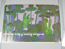 Vintage LOVE FROGS Peace Hippie Poster by Kersten Bros Inc 33X22 1970