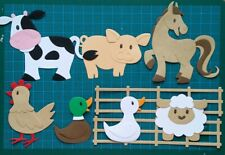 Mix 7 farm animals card topper Marianne Design paper die cuts nature countryside
