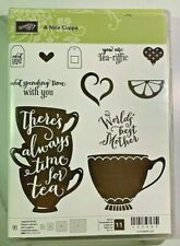 Stampin' Up! A NICE CUPPA Stamp Set & CUPS & KETTLE Framelits Dies